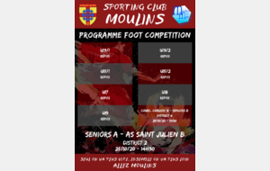 Programme FOOT COMPETITION